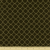 Oriental Traditions 10 Tile Cotton Fabric - Olive ESKM-13030-49