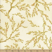 Oriental Traditions 11 Branches Cotton Fabric - Natural