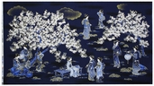 Oriental Traditions 11 Panel Cotton Fabric - Indigo