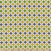 Out Front Prints Bella Cotton Fabric - Gold 0273022