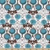 Out Front Prints Vines Cotton Fabric - White O-FRONT-5016