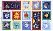 Out of This World Planet Panel Cotton Fabric - Multi OUTW-00182-MU