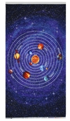 Out Of This World Planet Panel Glow Cotton Fabric - Blue