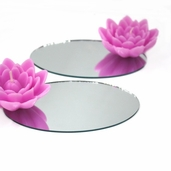 Oval Craft Mirror 4 Pkg - 3 in x 5