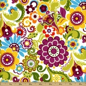 Owlivia Cotton Fabric - Multi-Color 02242-09