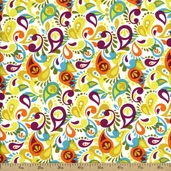 Owlivia Cotton Fabric - Multi-Color 02243-09