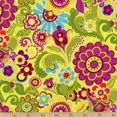 Owlivia Garden Cotton Fabric - Multi 02242-44