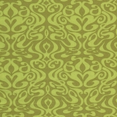 Pacific Tradewinds Wavy Damask Cotton Fabric - Olive - CLEARANCE