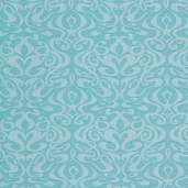 Pacific Tradewinds Wavy Damask Cotton Fabric - Turquoise