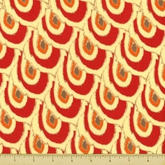 Pagoda Lullaby Scale Cotton Fabric - Grenadine