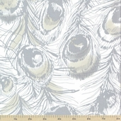 Palladium Cotton Fabric - Peacock Gray
