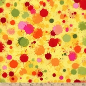 Pandora Spatter Spots Cotton Fabric - Yellow