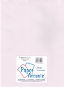 Paper Accents - 25 Sheet Vellum Bundle - Light White