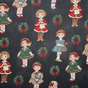 Paper Doll Christmas - Dolls Black