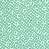 Paper Doll Cotton Fabric - Aloe