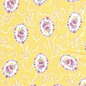 Paper Doll Cotton Fabric - Honey