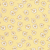 Paper Doll Cotton Fabric - Honey Yellow