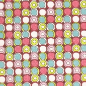 Paper Dolls Circle Dots Cotton Fabric - Brown - CLEARANCE