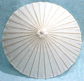 Paper Parasol 40in. - White