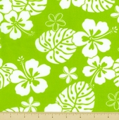 Paradise Pareaus 2 Cotton Fabric - Kiwi - BZC-12963-33