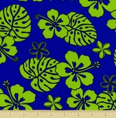 Paradise Pareaus 2 Cotton Fabric - Lagoon - BZC-12963-71