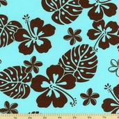 Paradise Pareaus 2 Cotton Fabric - Water - BZC-12963-246