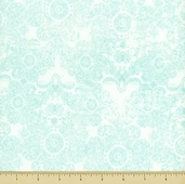Paris and Company Cotton Fabric - Aqua - Damask