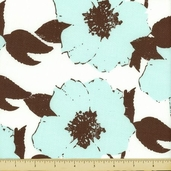 Paris and Company Cotton Fabric - Floral- Cream