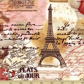 Paris Cotton Fabric - Sepia C9661