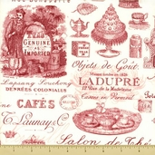 Paris Tea Cotton Fabric - Tea Time - Pink