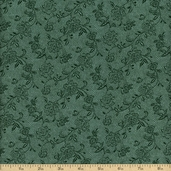 Parisian Paisley Cotton Fabric - Green 1649-20441-Q