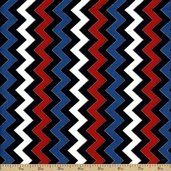 Patriotic Pop Cotton Fabric - Red White and Blue 1649-22753