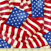 Patriots Cotton Fabric - Celebration Flags