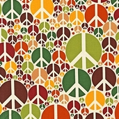 Peace Cotton Fabric - Earth - CLEARANCE
