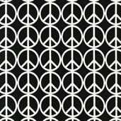 Peace Cotton Fabric - Jet