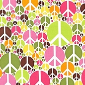 Peace Cotton Fabric - Summer