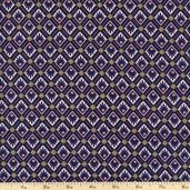 Peaceful Plumes Foulard Cotton Fabric - Blue 112-20941 - CLEARANCE