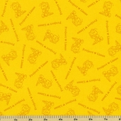 Peanuts Project Linus Blender Cotton Fabric - Yellow
