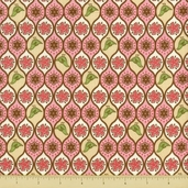 Pear Tree Cotton Fabric - Allover Partridges - Pink