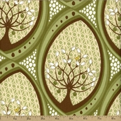 Pear Tree Cotton Fabric - Green 5549-G