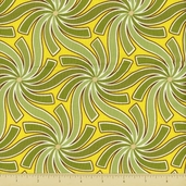 Pear Tree Cotton Fabric - Swirls - Green
