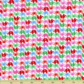 Pee Wee Parade Mini Flannel Fabric - Pink CF9309