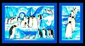 Penguins Panel Cotton Fabric