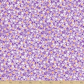 Penny and Friends Little Flower Cotton Fabric - Lavender