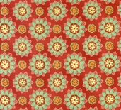 Penny Lane Hoffman Fabrics - Orange Gold flower