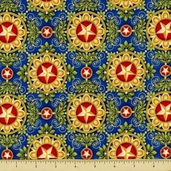People's House Cotton Fabric - Emblems - Americana