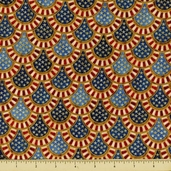 People's House Cotton Fabric - Scallop - Americana