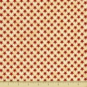 People's House Cotton Fabric - Stars - Natural