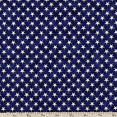 People's House Stars Cotton Fabric - Navy AUSM-12045-9 NAVY