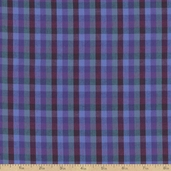 Peppered Checks Chambray Fabric - Purple Haze